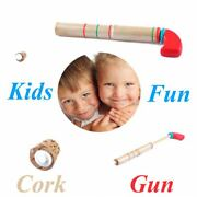 Classic Popping Sound Classic Game Wooden Toy Cork Pop Gun Pulling And Pushing
