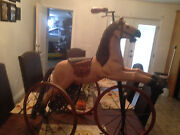 Figural Horse Tricycle Wood And Iron Childand039s Horse Tricycle Wood And Iron Wheels