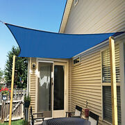 Ifenceview Blue 12'x12'-12'x48' Rectangle Sun Shade Sail Patio Canopy Awning