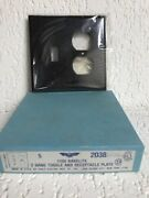 Box Of 5 Nos Vintage Bakelite 2 Gang Toggle Recepticale Switch Wall Plate Covers