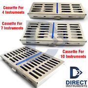 Dental Cassette For Holding 4-7-10 Instruments Tray Sterilize Autoclave Tool Box