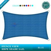 Ifenceview Blue14'x14'-14'x48' Rectangle Sun Shade Sail Patio Canopy Awning