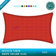 Ifenceview Red 14'x14'-14'x48' Rectangle Uv Sun Shade Sail Patio Canopy Awning