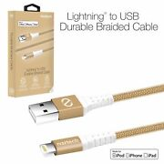 Naztech 8-pin Certified Mfi Lightning Usb Braided Charge/sync Cable-iphones/ipad
