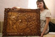 Icon Nativity Of Jesus, Birth Of Jesus Wooden Carved Icon Picture. 30