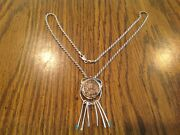 Vtg Sterling Silver Mounted Ancient Roman Coin Pin/brooch Pendant 20 Necklace