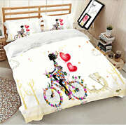 Bicycle Dreamliner 3d Printing Duvet Quilt Doona Covers Pillow Case Bedding Sets