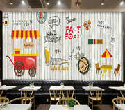 Fried Chicken And Beer 3d Full Wall Mural Photo Wallpaper Print Home Kids Decor