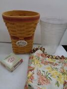 Longaberger 1998 May Series Snapdragon Basket Combo W/ Pro, Liner, Tie-on