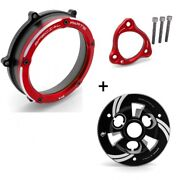 Ducati V4 / V4s Ducabike Clear Clutch Cover And Spring Retainer Pressure Plate Red