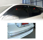 Fits Toyota Fortuner Suv 2015-17 Weather Guard Big Size +rear Bumper Guard Plate