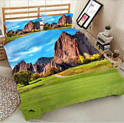 Upright Mountain 3d Printing Duvet Quilt Doona Covers Pillow Case Bedding Sets