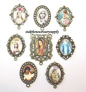 Discount Lot Rosary Parts | 8 Top Selling Blessed Mother Bronze Rosary Centers
