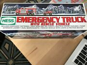 Hess 2005 Toy Emergency Truck With Rescue Vehicle Mib