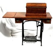Antique Wheeler And Wilson Treadle Cabinet No. 9 Sewing Machine, C. 1890