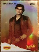 Star Wars 2018 Star Wars A Story Solo Dennyandrsquos Topps Card Foil Han 1100 Rare