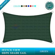 Ifenceview Green 17and039x17and039-17and039x48and039 Rectangle Sun Shade Sail Patio Canopy Awning