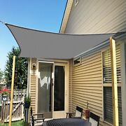 Ifenceview Grey 17and039x17and039-17and039x48and039 Rectangle Sun Shade Sail Patio Canopy Awning