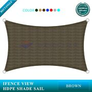 Ifenceview Brown 17and039x17and039-17and039x48and039 Rectangle Sun Shade Sail Patio Canopy Awning