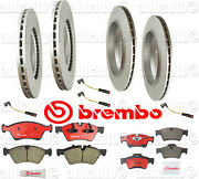Front+rear Rotors With Brembo Pads Sensors Brake Kit Mercedes W164 Gl450 07-12