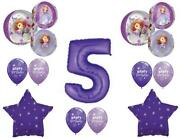Awesome Sofia The First 5th Birthday Party Balloons Decoration Supplies Orbz
