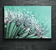 Wall Art Glass Print Canvas Picture Spring Dew Flowers Floral P132419 Any Size
