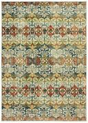 Dawson Transitional Casual Area Rug By Oriental Weavers. Blue/red/green 7341b