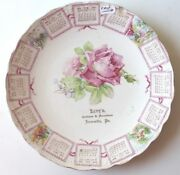 1908 Levy's Clothiers And Furnishers Advertising Calendar Plate Jeannette, Pa
