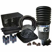 Simply Waterfalls 10000 Waterfall Kit 15and039 X 50and039 Epdm Liner10000 Gphpump Pmthb0