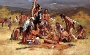 Council Of Chiefs Canvas Transfer No. 32 Of 950 Signed By Howard Terpning