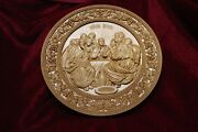 Icon Last Supper Jesus 3d Art Orthodox Wooden Carved Religious Picture. Size 30