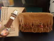 New In Box Disney Pocahontas Collectors Watch And Leather Belt Pouch Le 0071/5000