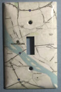 City Map Harrisburg Pa Light Switch Outlet Toggle Rocker Cover Plate Home Decor