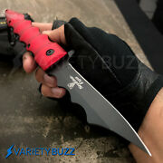 9 Tactical Spring Cleaver Assisted Folding Blade Red Bambo Viper Pocket Knife