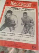The Knockout Official Fite Program Lot Of Three 1948