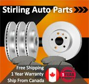 2008 2009 For Subaru Legacy Coated Front And Rear Brake Rotors And Pads 3.0l Engine