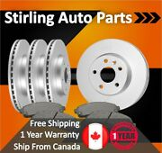 2015 2016 For Subaru Legacy Coated Front And Rear Brake Rotors And Pads 3.6l Engine