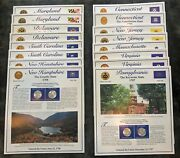 Usa - P And D State Quarter And Stamp Variety Collection - 16 Boards - Free Ship Usa