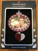 """Crystal Holiday Photo Frame Ornament """"our First Christmas"""" Ships N 24h"""