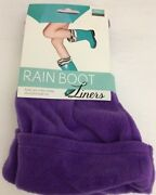 Rain Boot Liners-purple Size M/l 8-10keep Your Toes Toasty And Style Hot-ships N24