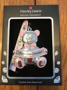 """Crystal Photo Frame Ornament """"baby's First Christmas """" Ships N 24h"""