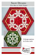 Snow Dreams Tree Skirt Or Table Topper Quilt Pattern