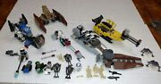 Lego Star Wars Random Lot Of Ships Vehicles And 21 Mini Figures R2d2 Stormtroopers