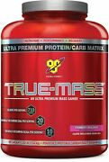 Bsn True-mass Weight Gainer Muscle Mass Gainer Protein Powder Strawberry Mi...