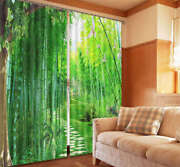 Fresh And Tender Bamboo 3d Curtain Blockout Photo Printing Curtains Drape Fabric