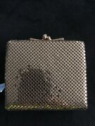 New With Tags Vintage Chr Gold Mesh Metal Wallet Coin Purse