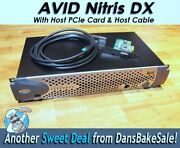 Avid Nitris Dx W/ Host Pcie Card And Cable -tested In Hd And Sd