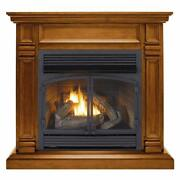 Duluth Forge Dual Fuel Ventless Fireplace - 32000 Btu Apple Spice Finish