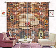 Antique Coffee House 3d Curtain Blockout Photo Printing Curtains Drape Fabric