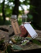 Luxury Mini Gin Glass Bottle With Caps, 50ml, Wedding Favours, Sloe Gin, New
